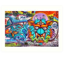 Graffiti Wall Art Tengu. Art Print