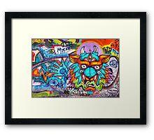Graffiti Wall Art Tengu. Framed Print