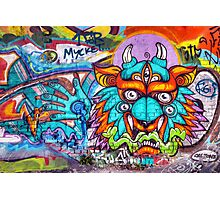 Graffiti Wall Art Tengu. Photographic Print