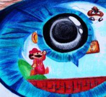 Mario World Eyeball Reflection Sticker