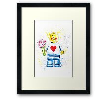 Say it with (Plastic) Flowers Framed Print
