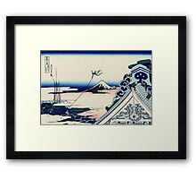 Asakusa Honganji temple - Hokusai - Views of Mount Fuji Print Framed Print