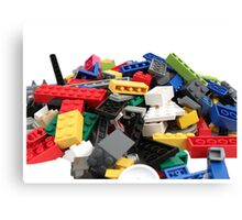 LEGO Bricks Pile Canvas Print