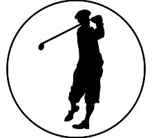 Golfer Circle by kwg2200