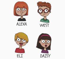 Alexa, West, Eli & Daisy One Piece - Short Sleeve