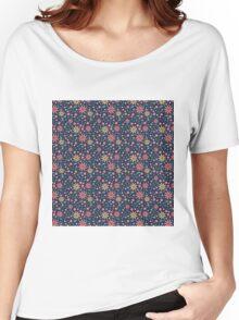 FLOWER GALAXY Women's Relaxed Fit T-Shirt