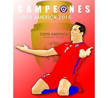 CAMPEONES, CHILE, ALEXIS SANCHEZ, COPA AMERICA 2016 Photographic Print