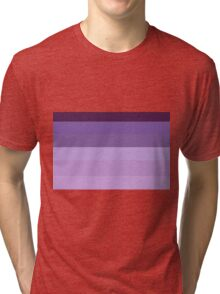 Purple Stripes Tri-blend T-Shirt