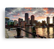 Boston Harbor Clouds Canvas Print