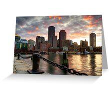 Boston Harbor Clouds Greeting Card