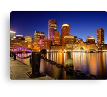 Boston Harbor Cityscape Canvas Print