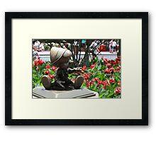 Pinocchio and Jiminy Cricket Framed Print