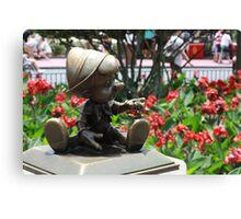 Pinocchio and Jiminy Cricket Canvas Print