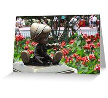 Pinocchio and Jiminy Cricket Greeting Card