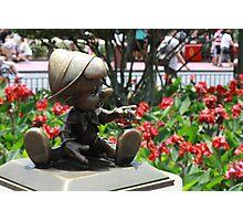Pinocchio and Jiminy Cricket Photographic Print