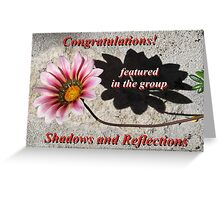 Banner - Shadows and Reflections Feature Challenge Greeting Card
