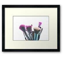 makeup brushes Framed Print