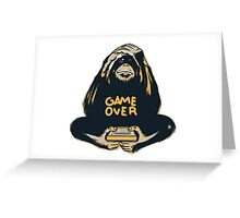 Monkey Game Over Greeting Card