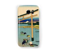 Bay of Noboto - Hokusai - Views of Mount Fuji Print Samsung Galaxy Case/Skin