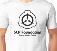 SCP Foundation (in Black) Unisex T-Shirt