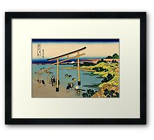Bay of Noboto - Hokusai - Views of Mount Fuji Print Framed Print