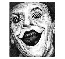 Jack Nicholson Joker Stippling Portrait by Joanna Albright