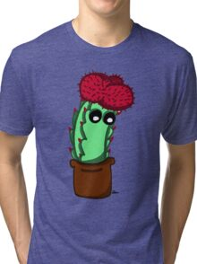 Cute Red Cactus Tri-blend T-Shirt