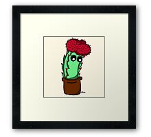 Cute Red Cactus Framed Print