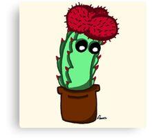 Cute Red Cactus Canvas Print