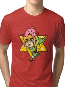 Super Smash Bros. - Toon Link and Kirby Tri-blend T-Shirt