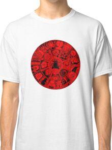 Cat Mandala in Red and Black Classic T-Shirt
