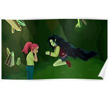 adventure time- marceline and princess bubblegum Poster