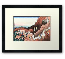 Climbing on Mt. Fuji - Hokusai - Views of Mount Fuji Print Framed Print