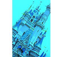 Cinderella's Castle (Turquoise) Photographic Print