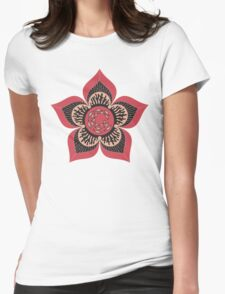 Coral Blooms 2 Womens Fitted T-Shirt