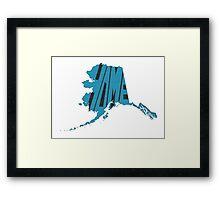 Alaska HOME state design Framed Print
