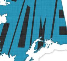 Alaska HOME state design Sticker