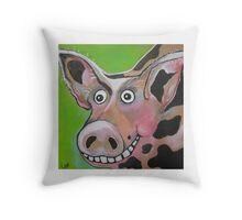 Mr Pig Throw Pillow