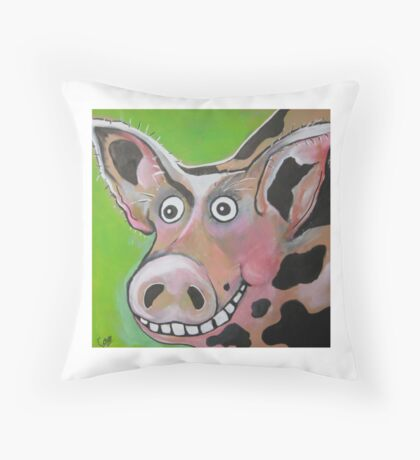 Mr Pig Throw Pillow