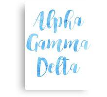 Alpha Gamma Delta Canvas Print