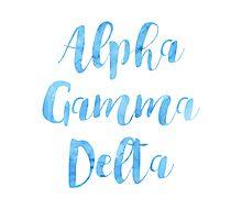 Alpha Gamma Delta Photographic Print
