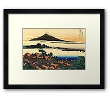 Dawn at Isawa in the Kai province - Hokusai - Views of Mount Fuji Print Framed Print
