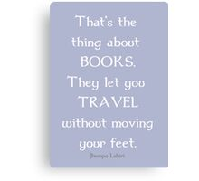 Books and Traveling Canvas Print
