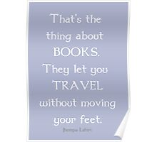 Books and Traveling Poster