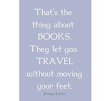 Books and Traveling Photographic Print