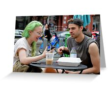 The Girl With the Green Hair Greeting Card