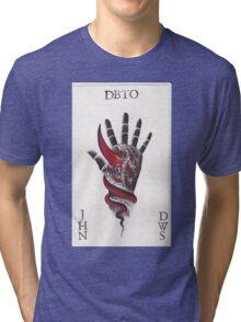 Original Watercolor Handprint Tri-blend T-Shirt
