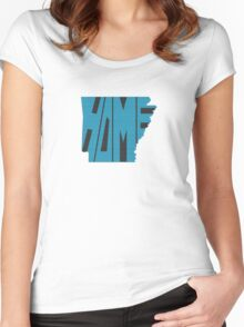 Arkansas HOME state design Women's Fitted Scoop T-Shirt