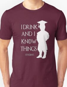 Game of Thrones - I Drink and I Know Things-Student Unisex T-Shirt