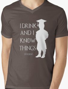 Game of Thrones - I Drink and I Know Things-Student Mens V-Neck T-Shirt